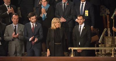 Emmanuel Macron; Brigitte Macron