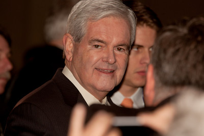 "Newt Gingrich grand entrance to ""Eye of the Tiger"""