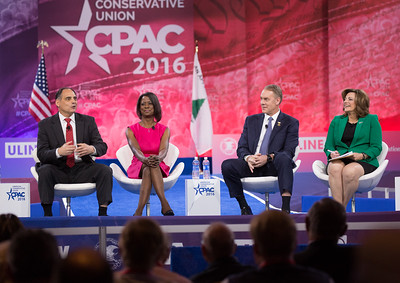 James Carafano, Deneen Borelli, Rep. Ryan Zinke (R-MT), K.T. McFarland, CPAC
