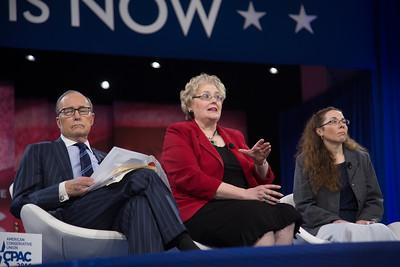 Larry Kudlow, CPAC, Julaine Appling, Wendy Warcholik