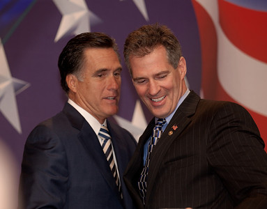 Mitt Romney and Sen. Scott Brown