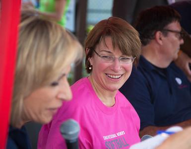 announcers Andrea Mitchel (MSNBC), Senator Amy Klobuchar (D-MN)