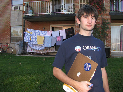 Canvassing for Obama, 10/26/08
