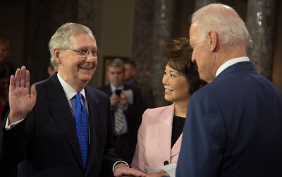 Sen. Mitch McConnell (R-KY)  Elaine Chao (spouse)