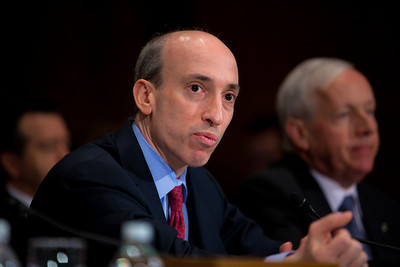 Gary Gensler, chairman of the U.S. Commodity Futures Trading Commission, testifies at the Senate Banking, Housing and Urban Affairs Committee hearing on the Dodd-Frank financial reform law, on Capitol Hill in Washington DC on Thursday, February 17, 2011. (Photo by Jeff Malet)