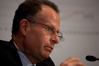 Edward Kleinbard, former chief of staff of the Joint Committee on Taxation testifies at a hearing of the Senate Finance Subcommittee on Fiscal Responsibility and Economic Growth, on deficits. Kleinbard joined Federal Reserve Chairman Alan Greenspan, former Michigan Gov. John Engler, former Treasury Undersecretary John Taylor and former Reagan economic adviser Martin Feldstein. The hearing took place on Tuesday September 13, 2011 on Capitol Hill in Washington DC. The panelists were questioned on whether changing the tax code could help reduce the federal deficit. Senator Bill Nelson (D-FL), chaired the hearing. (Photo by Jeff Malet)