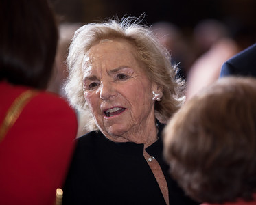 Ethel Kennedy attends a ceremony marking the 50th anniversary of John F. Kennedy's inaugural address in the central Rotunda of the United States Capitol on January 20, 2011 in Washington DC. Ethel Skakel Kennedy is the widow of Robert F. Kennedy. (Photo by Jeff Malet)