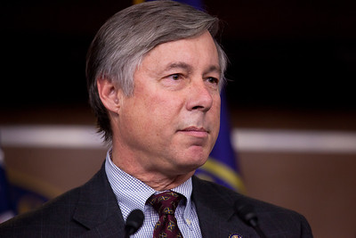 Congressman Fred Upton (R-MI) speaks. U.S. House Speaker John Boehner (R-OH) and fellow members of Republican House leadership hold a press conference on Capitol Hill in Washington DC at 10 AM on December 22, 2011 to discuss why they had failed to accept a two month extension of an expiring payroll tax cut that had passed the Senate on Dec. 17, and calling on Democrats to return to Washington and negotiate a one year deal. He and Republican House leaders had been taking criticism from some Senate Republicans and conservative pundits for their stand. (Several hours following this press conference, Speaker Boehner reversed himself and accepted the two month extension.)  (Photo by Jeff Malet)