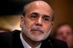 Federal Reserve Chairman Ben Bernanke testifies at the Senate Banking, Housing and Urban Affairs Committee hearing on the Dodd-Frank financial reform law, on Capitol Hill in Washington DC on ...