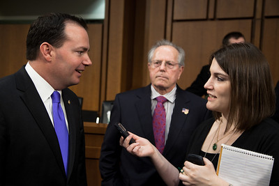 Senator Mike Lee (R-UT) attends the first meeting of the Senate Tea Party Caucus on Thursday January 27, 2011 on Capitol Hill in Washington DC. (Photo by Jeff Malet)