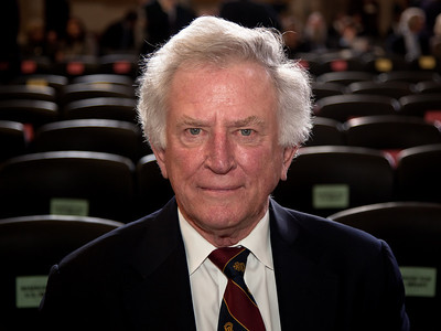 Former Senator Gary Hart (D-CO) attends a ceremony marking the 50th anniversary of John F. Kennedy's inaugural address in the central Rotunda of the United States Capitol on January 20, 2011 in Washington DC. Hart made a run for president in 1984 and 1988.  (Photo by Jeff Malet)