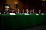 Regulators testify at the Senate Banking, Housing and Urban Affairs Committee hearing on the Dodd-Frank financial reform law, on Capitol Hill in Washington DC on Thursday, February 17, 2011. ...