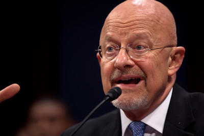 Director of National Intelligence, James Clapper (in photo) testified with CIA Director David Petraeus at a joint congressional intelligence committee hearing on Capitol Hill on Tuesday, September 13, 2011 in Washington DC. America's top two intelligence officials told Congress that al-Qaeda is weaker and U.S. intelligence agencies are smarter since the 9/11 attacks, but that the terrorists are still dangerous and are not close to giving up. (Photo by Jeff Malet)