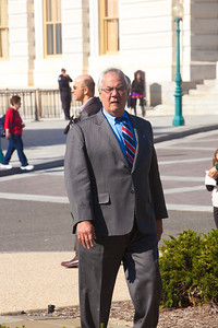 Rep. Barney Frank (D-MA) walks by himself along the House side of the Capitol's East Front on November 2, 2011 in Washington D.C. Later in the month, he would announce that he will not seek reelection in 2012, after 16 terms in office. (Photo by Jeff Malet)
