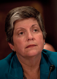 Homeland Security Department Secretary Janet Napolitano testifies before the Senate Homeland Security Committee, chaired by Sen. Joe Lieberman (I-CT)  during a major hearing on whether the United States is safer ten years after the September 11th attacks. Napolitano, FBI Director Robert Mueller and National Counterterrorism Center Director Matthew Olsen testified before the committee on Tuesday, September 13, 2011 on Capitol Hill in Washington DC. (Photo by Jeff Malet)