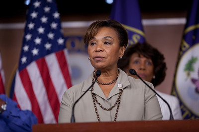 Rep. Barbara Lee (D-CA) and other members of the Congressional Progressive Caucus came out against the debt ceiling deal of President Barack Obama and congressional leadership. At a press conference on Capitol Hill in Washington DC on August 1, 2011. (Photo by Jeff Malet)