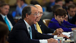 Former Clinton Chief of Staff Erskine Bowles testifies. Congress' Joint Select Committee on Deficit Reduction, also known as the Supercommittee, held a public hearing on Capitol Hill in Wash ...