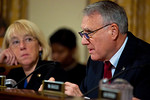 Supercommittee members Co-Chair Senator Patty Murray (D-WA) and Senator Jon Kyle (R-AZ)) listen to testimony. Congress' Joint Select Committee on Deficit Reduction, also known as the Superco ...