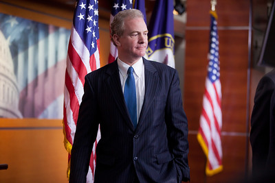 Rep. Chris Van Hollen (D-MD) leaving a press conference about the Republican controlled House's inability to pass the Social Security payroll tax extension, on Capitol Hill in Washington D.C. on December 22, 2011. Van Hollen holds the top Democratic spot on the House Budget Committee. Also appearing at the press conference, but not in photo, were Minority Whip Steny Hoyer (D-MD), Rep. Xavier Becerra (D-CA) and Rep. Sandy Levin (D-MI)  (Photo by Jeff Malet)