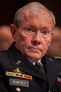 Army General Martin E. Dempsey, Chairman, Joint Chiefs of Staff testifies at a hearing of the Senate Budget Committee on the proposed fiscal 2013 budget request for the Department of Defense on Tuesday, February 28, 2012 on Capitol Hill in Washington D.C. (Photo by Jeff Malet)