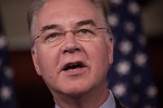 Rep. Tom Price  (R-GA) speaks during a news conference organized by House Budget Committee Chairman Rep. Paul Ryan (R-WI). House Republicans introduced a budget plan, titled