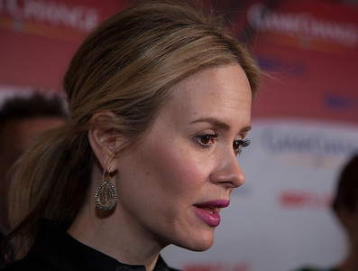 "Actress Sarah Paulson appears on the red carpet at the Washington, DC, premier of the HBO movie ""Game Change"" about the 2008 McCain-Palin Republican presidential campaign. The movie was screened at the Newseum on Thursday March 8, 2012. Paulson portrays Nicolle Wallace, a senior advisor for the McCain-Palin campaign, in the movie.  (Photo by Jeff Malet)"