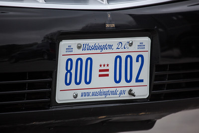 President Barack Obama's license plate. President Barack Obama welcomed Irish Prime Minister Enda Kenny to Washington as part of an extended St. Patrick's Day celebration. At the US Capitol Building on March 20, 2012. (Photo by Jeff Malet)