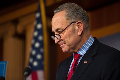 Sen. Charles Schumer (D-NY), (in photo), and Sen. Tom Harkin (D-Iowa), hold a news conference at the Capitol in Washington D.C. on Wednesday, Dec. 19, 2012, to respond to Speaker John Boehner's (R-Ohio)  'plan B'  to avoid 'fiscal cliff' impending tax increases and budget cuts at the end of 2012 if Congress cannot reach a new budget agreement. (Photo by Jeff Malet)
