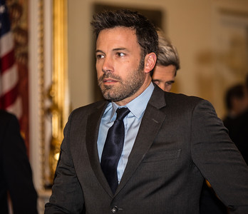 Ben Affleck, in Washington D.C. this week to  raise awareness about violence in the Congo, meets with members of the Senate Foreign Relations Committee on Capitol Hill on Wed., Dec 19, 2012. Actor-director Affleck is among the names rumored to replace Kerry on the Democratic ballot for Massachusetts Senator should Kerry become the next U.S. Secretary of State. (Photo by Jeff Malet)