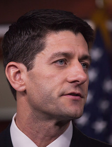 """House Budget Committee Chairman Rep. Paul Ryan (R-WI), introduces his budget plan, titled """"The Path to Prosperity""""  during a news conference on Capitol Hill in Washington D.C. on Tuesday, March 20, 2012. (Photo by Jeff Malet)"""