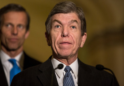 "Senator Roy Blunt (R-MO) briefs the press after the weekly Senate Republican Policy Committee meeting at the U.S. Capitol in Washington D.C. on November 27, 2012. Blunt said it is important that the Senate continue to do business as usual and not change Senate rules to prevent senators from using the filibuster. Senate Majority Leader Harry Reid (D-NV) has proposed invoking seldom-used procedures to change Senate Rules (which some have called the ""nuclear option"") with a simple 51 vote majority.  (Photo by Jeff Malet)"