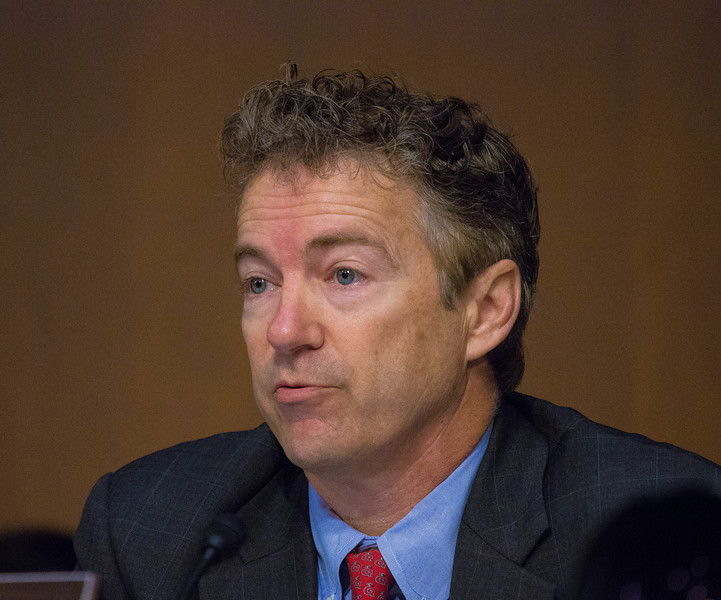 Senator Rand Paul (R-KY) questions U.S. Secretary of State Hillary Clinton who testified before the Senate Foreign Relations Committee on Capitol Hill in Washington D.C. on January 23, 2013 about security failures during attacks  against the U.S. mission in Benghazi, Libya on September 11, that led to the death of four Americans, including U.S. Ambassador Christopher Stevens. (Photo by Jeff Malet)