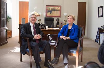 Merrick B. Garland, Senator Elizabeth Warren