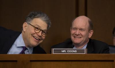 Judge Neil M. Gorsuch, Al Franken, Chris Coons