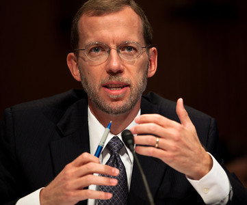 Congressional Budget Office Director Douglas Elmendorf testifies before the Senate Budget Committee at a hearing on the Outlook for the Economy and Fiscal Policy - on Capitol Hill in Washington DC on September 28, 2010. Elmendorf  indicated that keeping the tax cuts in place would boost the economy in the short term but have a negative impact as time goes on. (Photo by Jeff Malet)