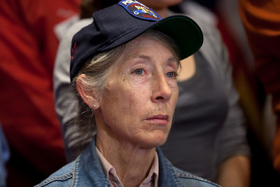 R. Delia Mannix (pictured here), a retired police lieutenant from Queens, and other First Responders to the World Trade Center on September 11, 2001 joined Congressional Democrats for a news conference urging the Senate to pass a bill that would pay for their medical needs. Congressional members participating were Senators Chuck Schumer (D-NY), Kirsten Gillibrand (D-NY), Robert Menendez (D-NJ) and Frank Lautenberg (D-NJ) as well as House Representatives Carolyn Maloney (D-NY) and Jerrold Nadler (D-NY). December 21, 2010 in Washington DC. In the final vote of the 111th Congress the next day, House lawmakers overwhelmingly passed the James Zadroga 9/11 Health and Compensation Act. (Photo by Jeff Malet)