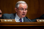 Senator Jeff Sessions (R-AL) questions FBI Director Robert Mueller during his testimony before the Senate Judiciary Committee focusing on the oversight of the FBI on July 28, 2010 on Capitol ...