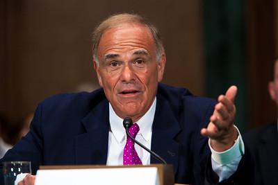 "Governor Ed Rendell (D-PA) testified before the United States Senate Committee on Banking, Housing and Urban Affairs on September 21, 2010 on Capitol Hill in Washington DC. The hearing was titled ""Investing in Infrastructure: Creating Jobs and Growing the Economy. Rendell is also co-chair of Building America's Future, a bipartisan organization of elected officials who believe that we must reform how we play for infrastructure and that additional resources must be invested more wisely.  (Photo by Jeff Malet)."