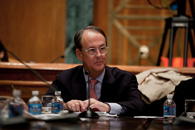 """Erskine Bowles, a Democrat who was White House chief of staff for President Clinton was co-chair of President Obama's Debt Reduction Commission. A report issued by the commission to find ways to pull the United States out its massive debt failed to win the 14 votes required to bring it up for a vote in Congress. The commission's final report, titled """"The Moment of Truth."""" won the backing of 11 out of 18 members - three short of the supermajority required under the executive order that Obama signed in February when he created the panel. This final meeting of the panel took place on Capitol Hill in Washington DC, Friday, Dec. 3, 2010. (Photo by Jeff Malet)"""