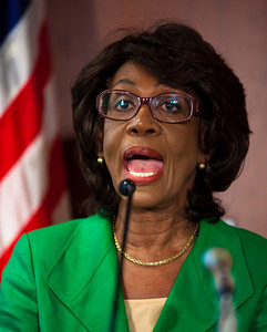 Rep. Maxine Waters (D-CA) holds a news conference at the Capitol to challenge the charges made against her by the House Ethics Committee. Waters denied that she used her influence to aid a bank in which her husband has a financial interest. She also attacked ethics investigators for drawing the wrong conclusions from what she said was her lifetime work of trying to aid minority-owned businesses in general. Washington DC, August 13, 2010. (Photo by Jeff Malet)