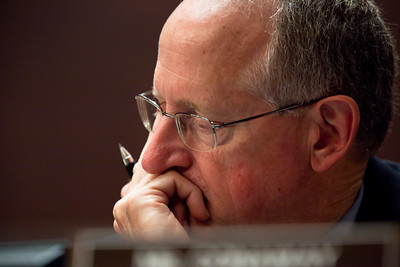 Mike Conaway (R-TX) pictured here was a member of the House Ethics panel that charged Rep. Charles Rangel (D-NY) with 13 counts of violating House ethics rules, placing the Democrat's 40-year political career in jeopardy. Chairman Zoe Lofgren (D-CA) made clear that she wants the committee to be unanimous, leaving little chance for agreement without Rangel capitulating on virtually all counts. On July 29, 2010 on Capitol Hill in Washington, DC. (Photo by Jeff Malet)