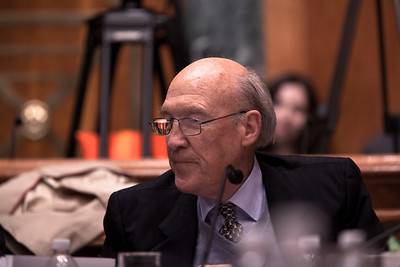 "Alan Simpson, a former Republican senator from Wyoming, was co-chair of President Obama's Debt Reduction Commission. A report issued by the commission to find ways to pull the United States out its massive debt failed to win the 14 votes required to bring it up for a vote in Congress. The commission's final report, titled ""The Moment of Truth."" won the backing of 11 out of 18 members - three short of the supermajority required under the executive order that Obama signed in February when he created the panel. This final meeting of the panel took place on Capitol Hill in Washington DC, Friday, Dec. 3, 2010. (Photo by Jeff Malet)"