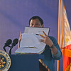 President Rodrigo Duterte shows lists of officials linked to illegal drugs