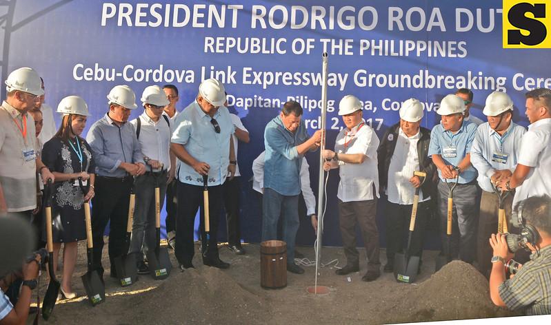 Cebu-Cordova Link Expressway groundbreaking