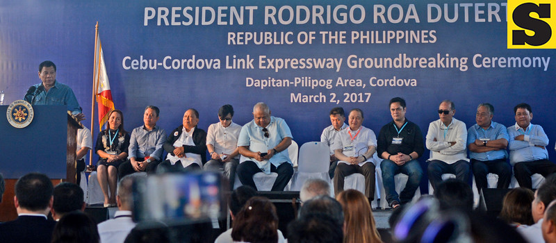 President Rodrigo Duterte leads Cebu Cordova Link Expressway groundbreaking