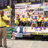 CEBU CITY. Liberal Party (LP) gubernatorial candidate Hilario Davide III speaks before the crowd during the rally in San Roque, Talisay City. (JAC)