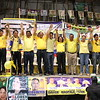 "CEBU CITY. The Liberal Party's bets raise their hands during their campaign in San Roque, Talisay City. (From left to right) Clifford delos Reyes, Lee Consul, Danilo ""Danny"" Caballero, Romeo ""Romy"" Villarante, Johnny Delos Reyes, Leandro Legarda-Leviste (representing his mother Sen. Loren legarda), Serenia Cabañero, Hilario Davide III, Agnes Magpale, Aldin Diaz, and Bensing Raguindin. (JAC)"