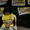 CEBU. Danny Caballero's young supporter who was also present during the Local Liberal Party (LP) campaign in San Roque, Talisay City. (JAC)