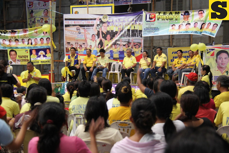 Local Liberal Party (LP) campaign at San Roque covered court.