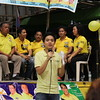 CEBU. Sentor Loren Legarda's son, Lean, represents her mother in Talisay City.